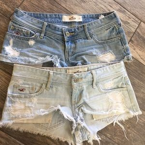 Womens Lot Of 2 Hollister Distressed Shorts Size 3